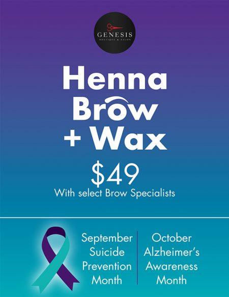 genesis_hair_salon_hair_and_brow_wax_promo